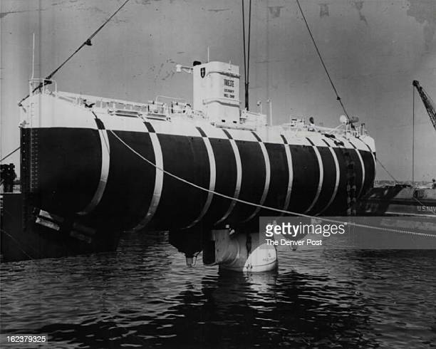 FEB 5 1960 Navy's Deep Sea Diver Screen News Digest trains its cameras on the bathyscaph Trieste in a fascinating film feature on man's conquest of...