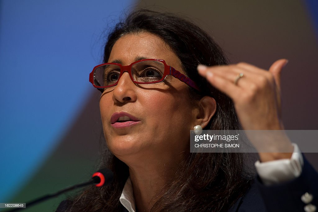 Nawal El Moutawakel, president of the Coordination Commission of the Rio 2016 Olympics, speaks during a presser of the 4th meeting of the organism, in Rio de Janeiro, Brazil, on February 20, 2013. AFP PHOTO / Christophe Simon