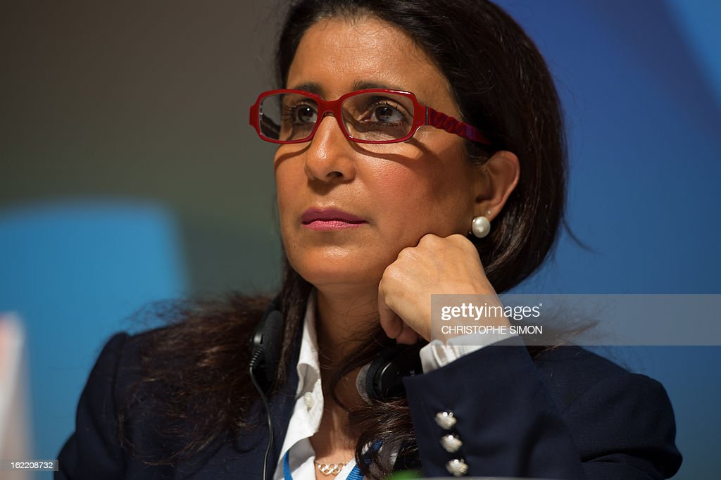 Nawal El Moutawakel, president of the Coordination Commission of the Rio 2016 Olympics, during a presser of the 4th meeting of the organism, in Rio de Janeiro, Brazil, on February 20, 2013. AFP PHOTO / Christophe Simon