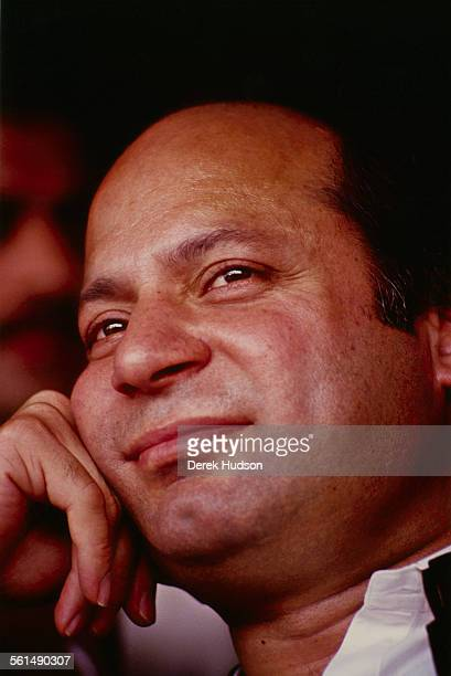 Nawaz Sharif leader of the Islami Jamhoori Ittehad or Islamic Democratic Alliance looking relaxed in the runup to the Pakistani General Election...