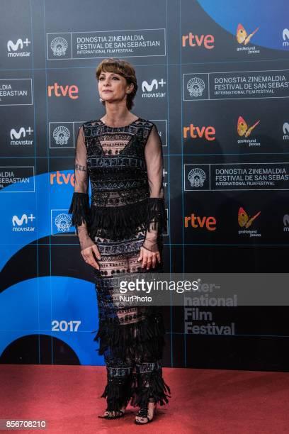 Nawja Ninri attends the red carpet of the closure gala during 65th San Sebastian Film Festival at Kursaal on September 30 2017 in San Sebastian Spain