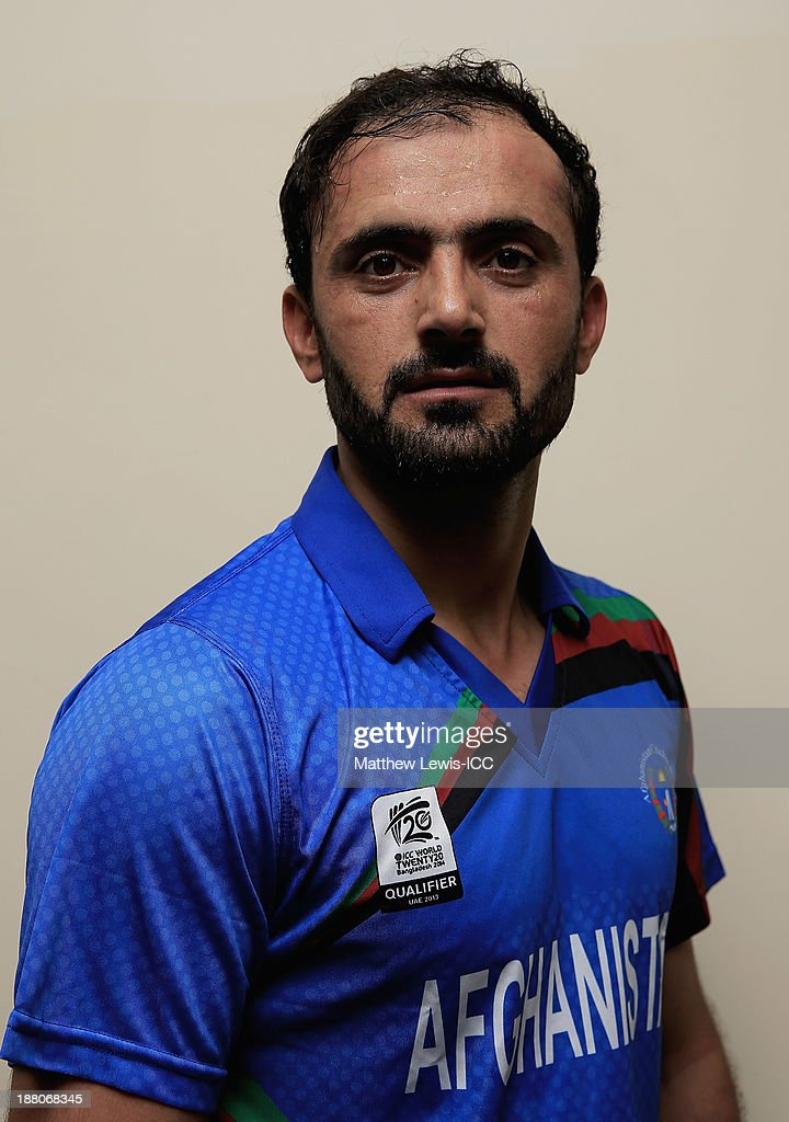 <a gi-track='captionPersonalityLinkClicked' href=/galleries/search?phrase=Nawroz+Mangal&family=editorial&specificpeople=5794122 ng-click='$event.stopPropagation()'>Nawroz Mangal</a> of Afghanistan poses for a portrait during ICC World Twenty20 Qualifier match between Afghanistan and The Netherlands at the Sharjah Cricket Stadium on November 15, 2013 in Dubai, United Arab Emirates.