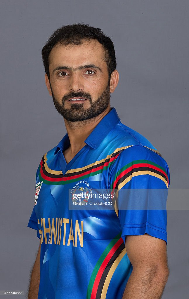 <a gi-track='captionPersonalityLinkClicked' href=/galleries/search?phrase=Nawroz+Mangal&family=editorial&specificpeople=5794122 ng-click='$event.stopPropagation()'>Nawroz Mangal</a> of the Afghanistan cricket team at the headshot session at the Peninsula Hotel ahead of the ICC World Twenty20 Bangladesh 2014 tournament on March 10, 2014 in Chittagong, Bangladesh.
