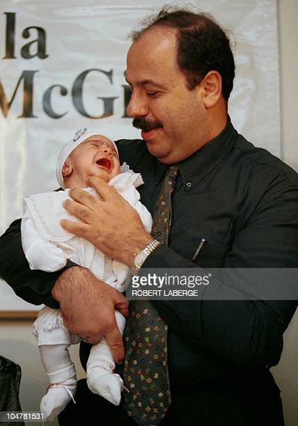 Nawwaf Awwad holds his baby girl Wateenwhich means heart at the McGill Reproductive Centre at the Royal Victoria Hospital in Montreal Quebec Canada...