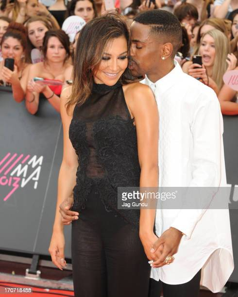 Naya Rivera and Big Sean arrive on the red carpet at the 2013 MuchMusic Video Awards at Bell Media Headquarters on June 16 2013 in Toronto Canada