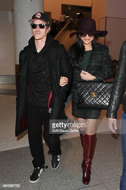 Naya Rivera and husband Ryan Dorsey seen at LAX on March 02 2015 in Los Angeles California
