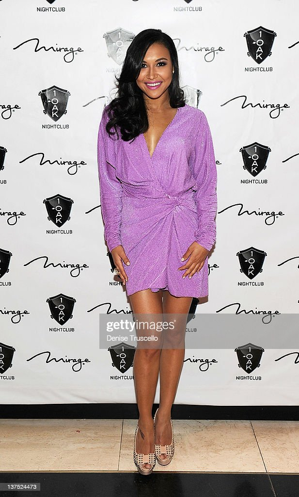<a gi-track='captionPersonalityLinkClicked' href=/galleries/search?phrase=Naya+Rivera&family=editorial&specificpeople=5745696 ng-click='$event.stopPropagation()'>Naya Rivera</a> arrives at her birthday party at 1 OAK Las Vegas At The Mirage on January 21, 2012 in Las Vegas, Nevada.