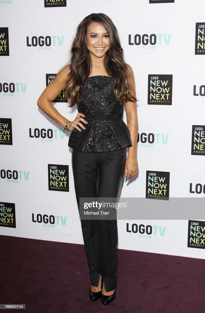 <a gi-track='captionPersonalityLinkClicked' href=/galleries/search?phrase=Naya+Rivera&family=editorial&specificpeople=5745696 ng-click='$event.stopPropagation()'>Naya Rivera</a> arrives at the Logo NewNowNext Awards 2013 held at The Fonda Theatre on April 13, 2013 in Los Angeles, California.
