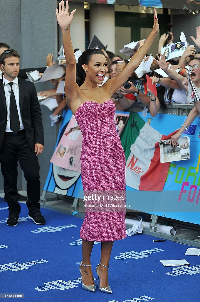<a gi-track='captionPersonalityLinkClicked' href=/galleries/search?phrase=Naya+Rivera&family=editorial&specificpeople=5745696 ng-click='$event.stopPropagation()'>Naya Rivera</a> attends 2013 Giffoni Film Festival blue carpet on July 24, 2013 in Giffoni Valle Piana, Italy.
