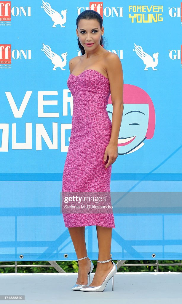 <a gi-track='captionPersonalityLinkClicked' href=/galleries/search?phrase=Naya+Rivera&family=editorial&specificpeople=5745696 ng-click='$event.stopPropagation()'>Naya Rivera</a> attends 2013 Giffoni Film Festival photocall on July 24, 2013 in Giffoni Valle Piana, Italy.