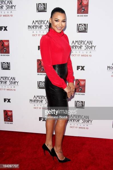 Naya Rivera attends the 'American Horror Story Asylum' Los Angeles premiere held at Paramount Studios on October 13 2012 in Hollywood California