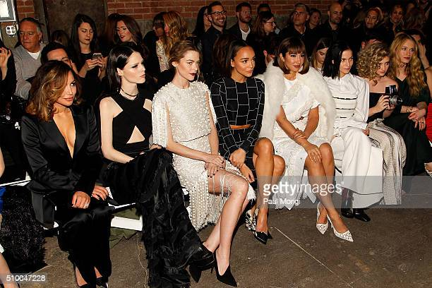Naya Rivera Coco Rocha Jaime King Ashley Madekwe Jackie Cruz Leigh Lezark Willow Shields and Leven Rambin attends the Christian Siriano Fall 2016...