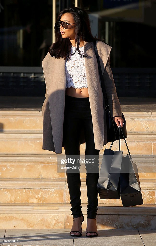 Naya Rivera is seen shopping at Barneys New York on December 22, 2013 in Los Angeles, California.