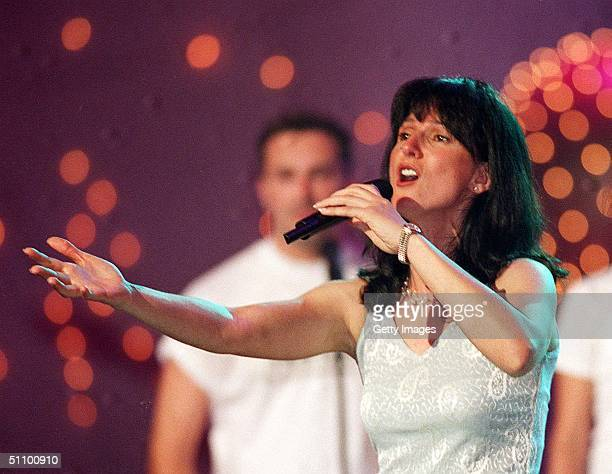 Nayah A Singer Representing France Rehearses For The Eurovision Song Contest 1999 In Jerusalem Monday May 24 1999