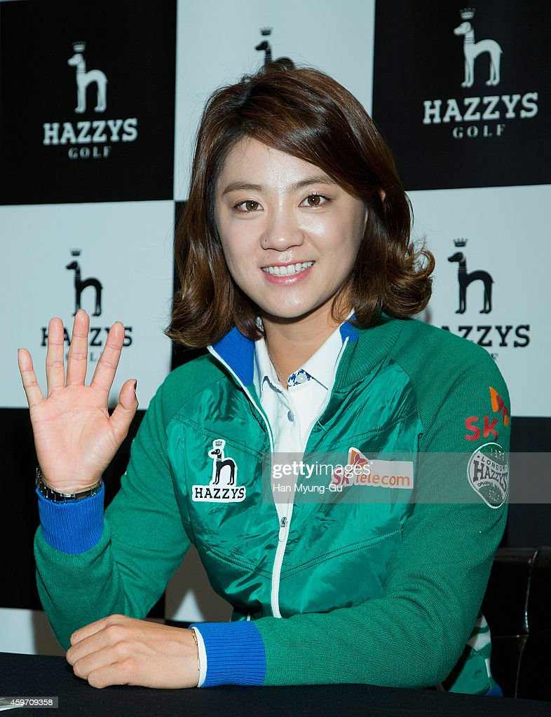 NaYeon Choi attends the autograph session for Hazzys Golf at hyundai department store on November 29 2014 in Seoul South Korea