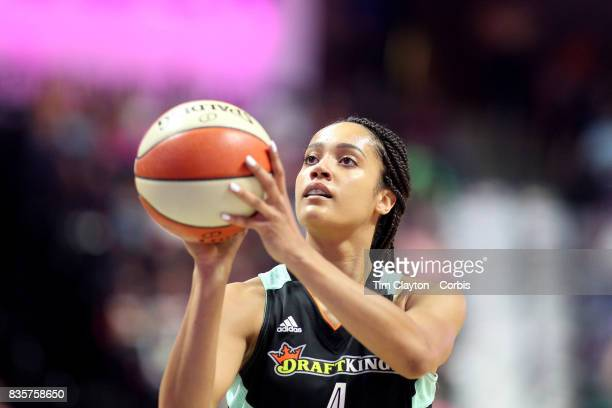 Nayo RaincockEkunwe of the New York Liberty in action during the Connecticut Sun Vs New York Liberty WNBA regular season game at Mohegan Sun Arena on...