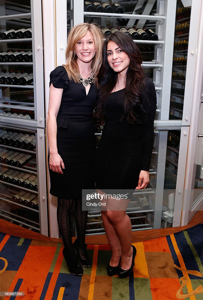 Naysa Mishler and Jasmine Ruiz attend the Gotham Magazine & Moroccanoil Celebrate With Step Up Women's Network event on February 18, 2013 in New York City.