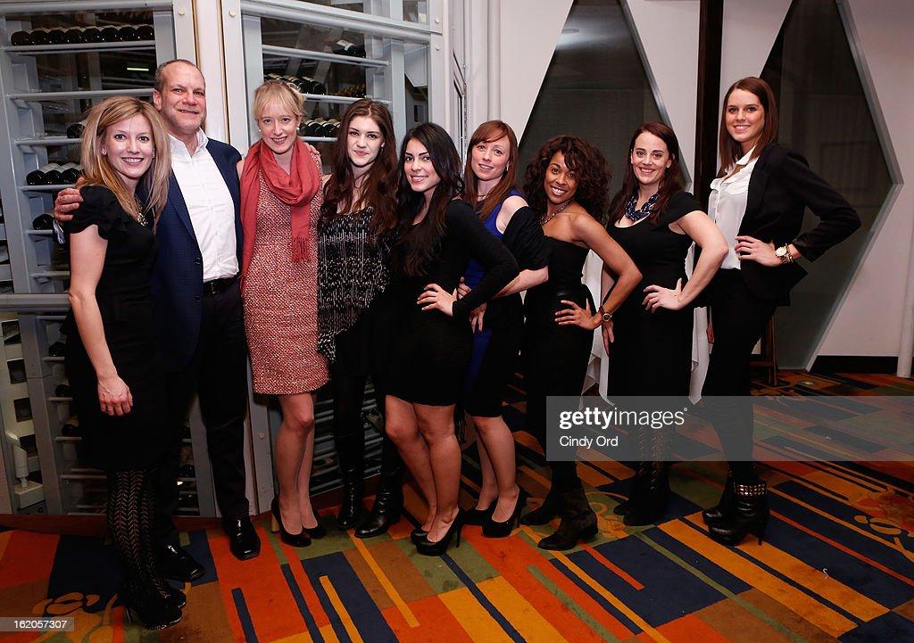 Naysa Mishler, Norman Miller, Emily McLintock, Emily Kaczmarek, Jasmine Ruiz, Mimi Doherty, Kristine Sanabria, Danielle Puccio and Caitlin Dennison attend the Gotham Magazine & Moroccanoil Celebrate With Step Up Women's Network event on February 18, 2013 in New York City.