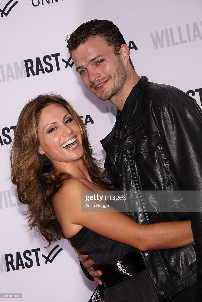 Nazan Eckes and boyfriend Julian Khol arrives to the 'William Rast' fashion show during the Bread and Butter fashion trade fair at the Silver Wings Club on July 1, 2009 in Berlin, Germany.