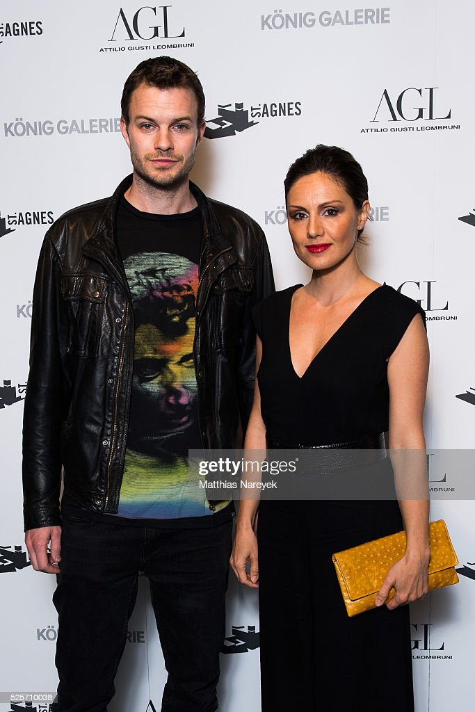 Nazan Eckes and Julian Khol attend an exclusive dinner hosted by AGL and Koenig Galerie to celebrate the 'Gallery Weekend Berlin' on April 28, 2016 in Berlin, Germany.