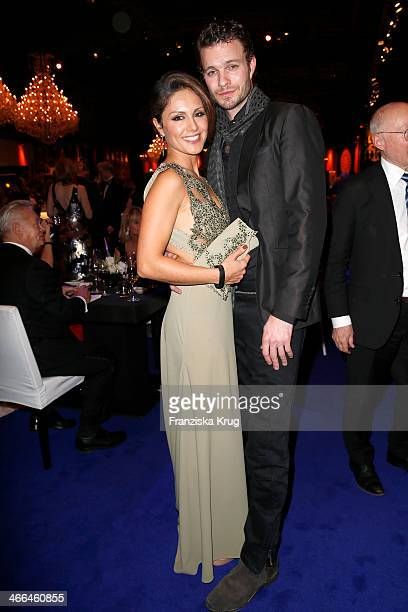 Nazan Eckes and Julian Khol attend the Goldene Kamera 2014 at Tempelhof Airport on February 01 2014 in Berlin Germany