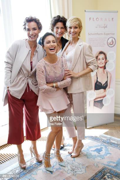 Nazan Eckes with models during the Triumph Florale Lunch on June 1 2017 in Hamburg Germany