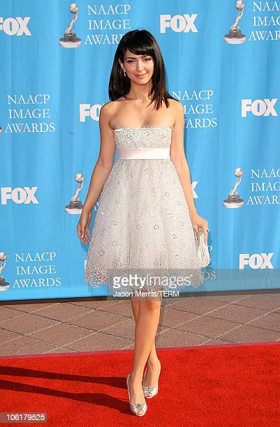 Nazanin Boniadi arrives at the 39th NAACP Image Awards held at the Shrine Auditorium on February 14 2008 in Los Angeles California