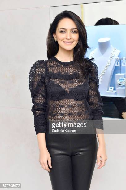 Nazanin Boniadi attends David Webb Hosts STOP CANCER with Elizabeth Chambers on November 10 2017 in Beverly Hills California