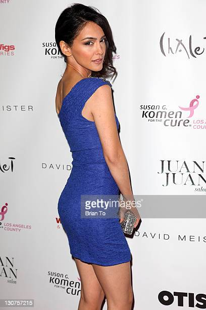 Nazanin Boniadi attends the Designs for the Cure gala at BelAir Bay Club on October 28 2011 in Pacific Palisades California