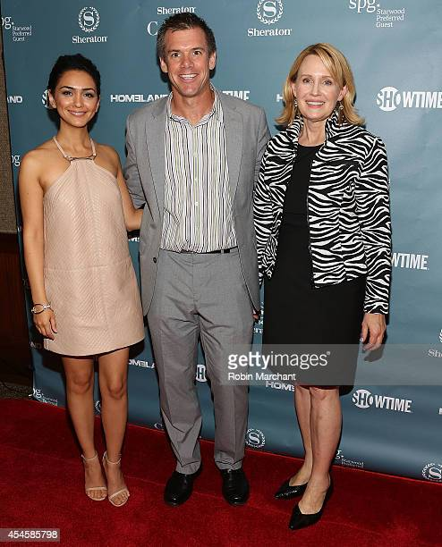 Nazanin Boniadi Bob Jacobs and Carol Rollie Flynn attends Sheraton Hotel Resorts And SHOWTIME Present 'Spies Among Us' Hosted By HOMELAND's Nazanin...