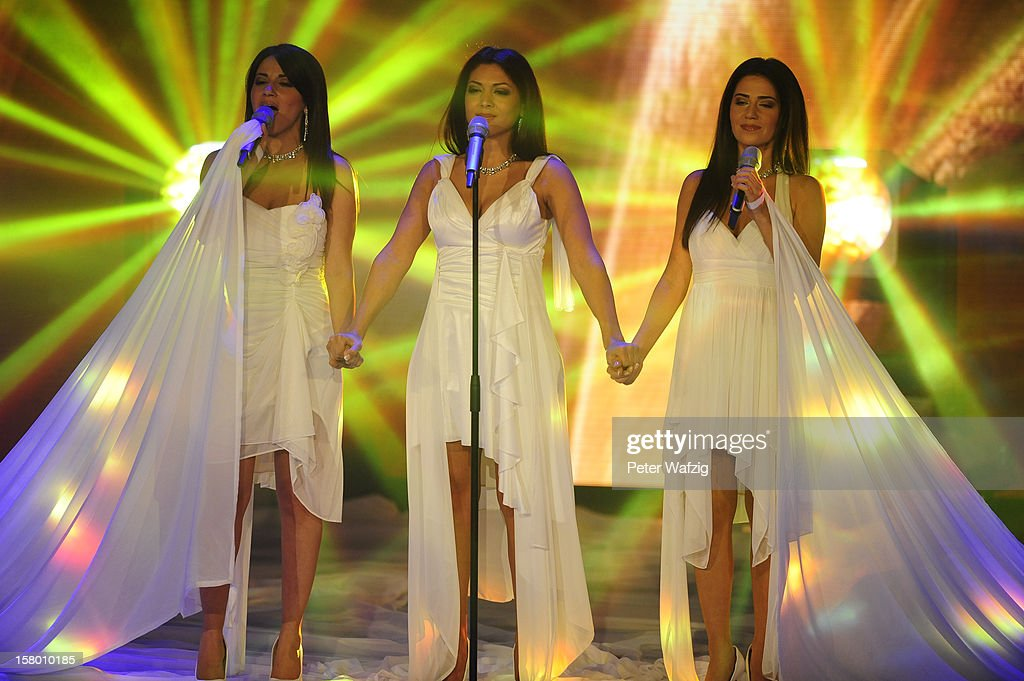 Nazanin, Shirin and Nasrin perform during the 'Das Supertalent' Semi Finals on December 08, 2012 in Cologne, Germany.