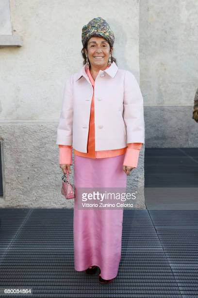 Nazanin Yashar attends a 'Private view of 'TV 70 Francesco Vezzoli Guarda La Rai' at Fondazione Prada on May 7 2017 in Milan Italy