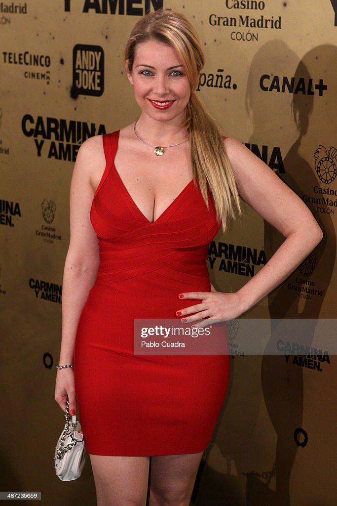 Nazaret Jimenez attends the 'Carmina y Amen' premiere at the Callao cinema on April 28, 2014 in Madrid, Spain.