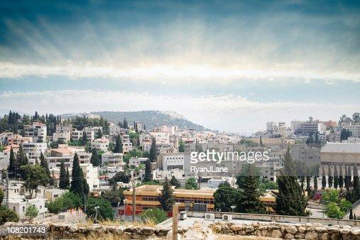 Nazareth Sunrise Cityscape