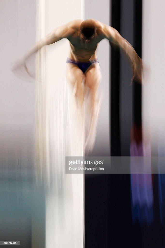 Nazarpour Shahnam of Iran competes in the Mens Open Platform during the Senet Diving Cup held at Pieter van den Hoogenband Swimming Stadium on February 6, 2016 in Eindhoven, Netherlands.