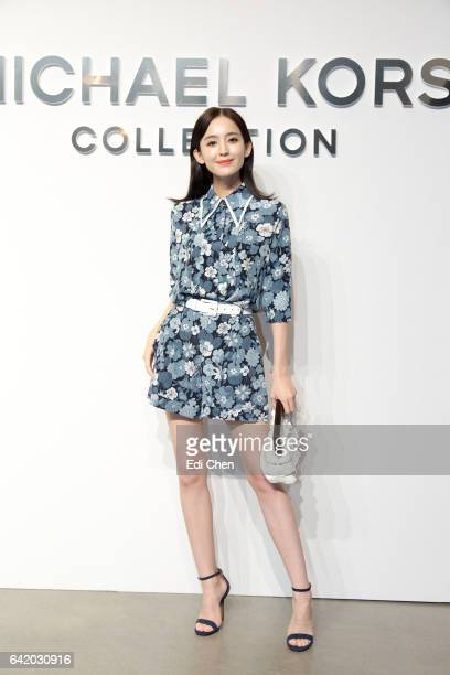Nazha attends the Michael Kors Collection Fall 2017 runway show at Spring Studios during New York Fashion Week on February 15 2017 in New York City