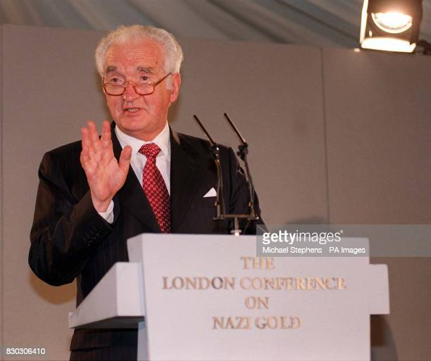 Nazi Gold conference chairman Lord Mackay on the final day of the London conference where he called for a new openess towards gold plundered from...
