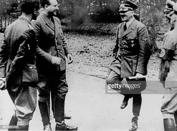 Nazi leader Adolf Hitler in the Forest of Compiègne France after signing the Second Armistice to establish a German occupation zone in Northern and...