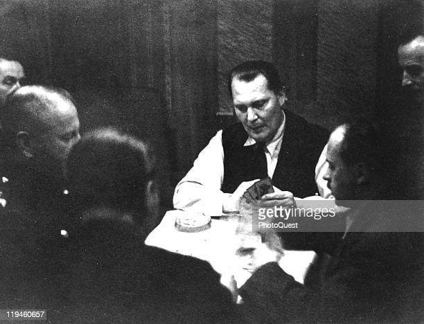 Nazi leader Hermann Goering plays cards 1935