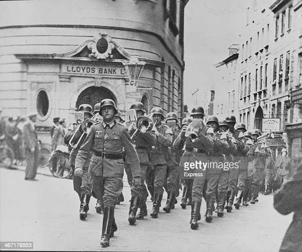 Nazi occupation of the British Channel Islands Nazi's marching through Guernsey during World War Two 1940