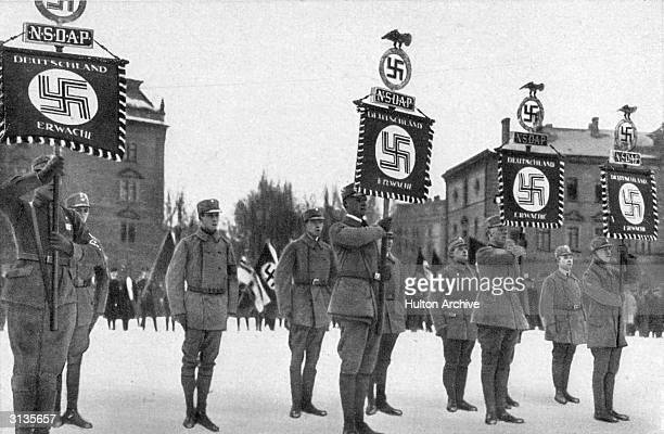 Nazi supporters parading in Munich