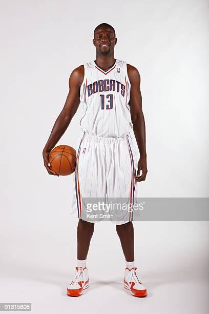 Nazr Mohammed of the Charlotte Bobcats poses for a portrait during 2009 NBA Media Day at Time Warner Cable Arena on September 28 2009 in Charlotte...