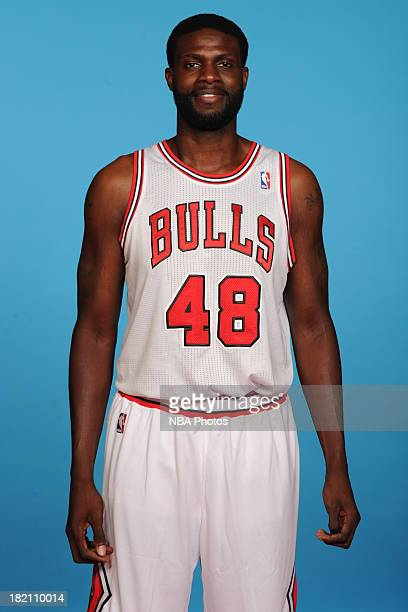 Nazr Mohammed of the Chicago Bulls poses for a portrait during media day on September27 2013 at Berto Center in Deerfield Illinois NOTE TO USER User...