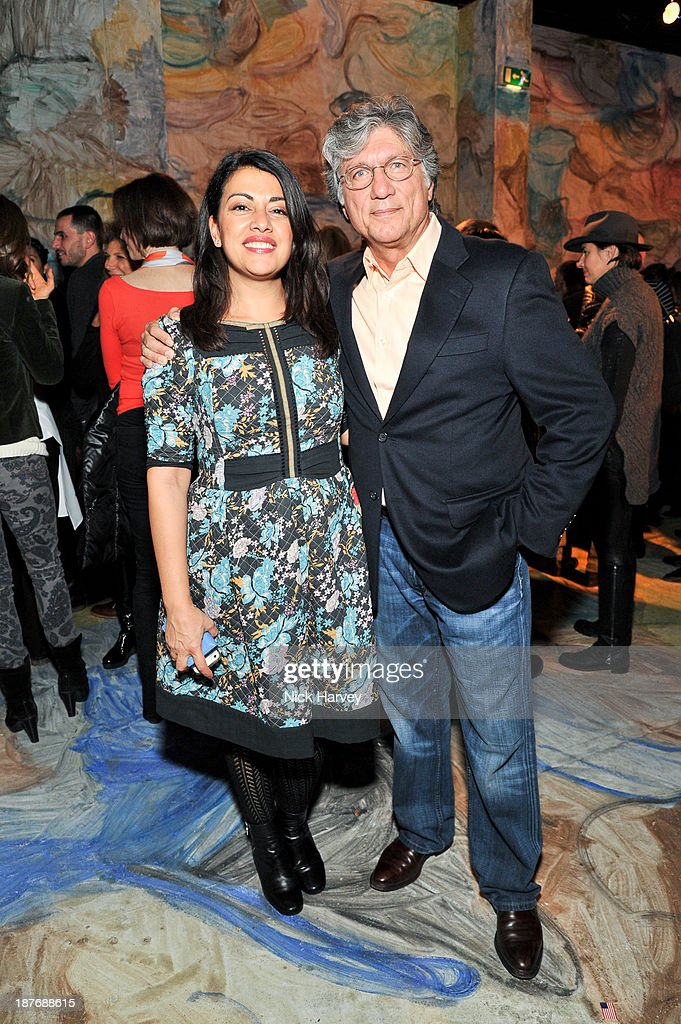 Nazy Vassegh and Hossein Amirsadeghi attend the book launch of Art Studio America at ICA on November 11, 2013 in London, England.