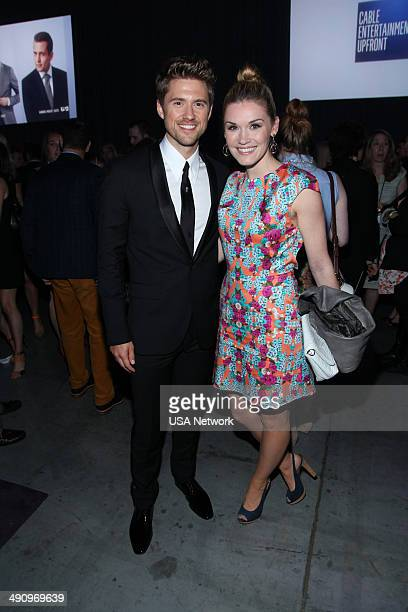 UPFRONT '2014 NBCUniversal Cable Entertainment Upfront at the Javits Center in New York City on Thursday May 15 2014' Pictured Aaron Tveit...