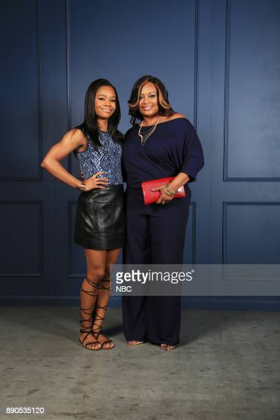 UPFRONT '2015 NBCUniversal Cable Entertainment Upfront at the Javits Center in New York City on Thursday May 14 2015' Pictured Gabby Douglas Natalie...