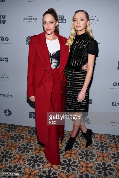EVENTS NBCUniversal Holiday Kickoff Party at Beauty Essex in Los Angeles CA on Monday November 13 2017 Pictured Carly Chaikin Portia Doubleday 'Mr...