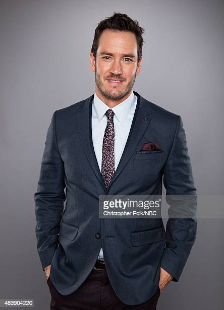 EVENTS NBCUniversal Portrait Studio August 2015 Pictured Actor MarkPaul Gosselaar from 'Truth Be Told' poses for a portrait at the NBCUniversal...