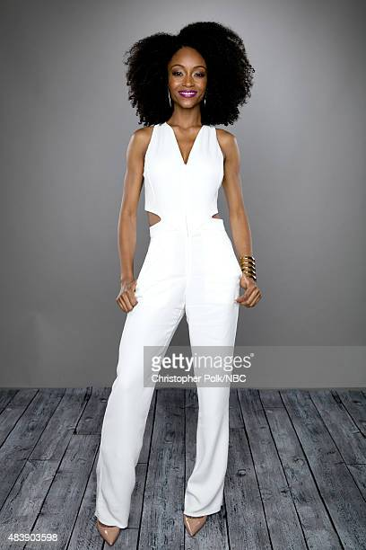 EVENTS NBCUniversal Portrait Studio August 2015 Pictured Actor Yaya DaCosta from 'The Player' poses for a portrait at the NBCUniversal Summer Press...