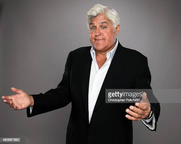 EVENTS NBCUniversal Portrait Studio August 2015 Pictured TV personality Jay Leno from 'Jay Leno's Garage' poses for a portrait at the NBCUniversal...